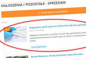 Negatywny test na COVID-19 bez wychodzenia z domu! Handel kwitnie-26890