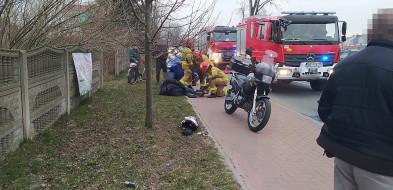 Wypadek z udziałem motocyklisty na Janowskiej-28104