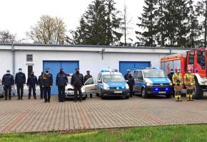 Łosiccy funkcjonariusze w hołdzie policjantowi z Raciborza-28447