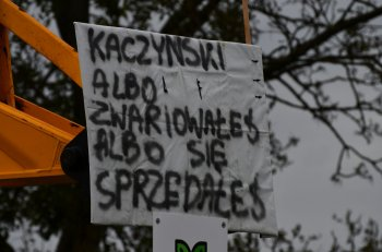 Protesty rolników na DK2-1980