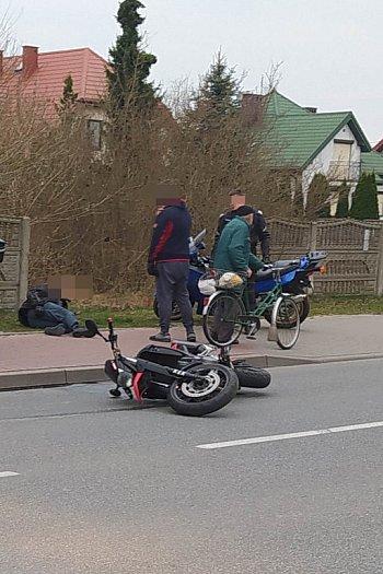 Wypadek z udziałem motocyklisty-2123